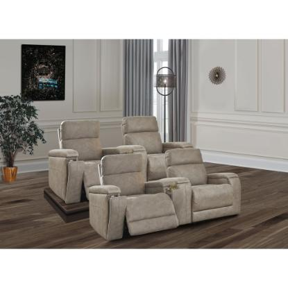 Picture of ASHLEY THEATER-CHAIR-4PC-PACKAGE-FOG