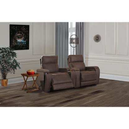 Picture of ASHLEY THEATER-CHAIR-2PC-PKG-WALNUT