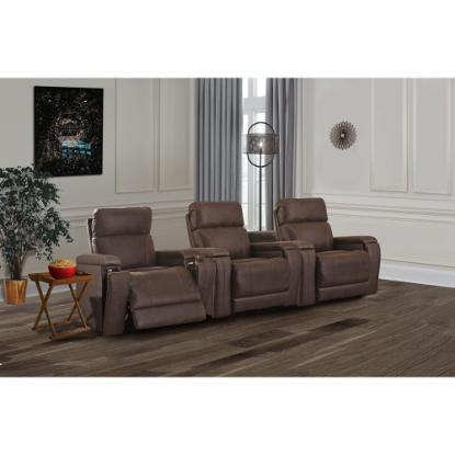Picture of ASHLEY THEATER-CHAIR-3PC-PKG-WALNUT