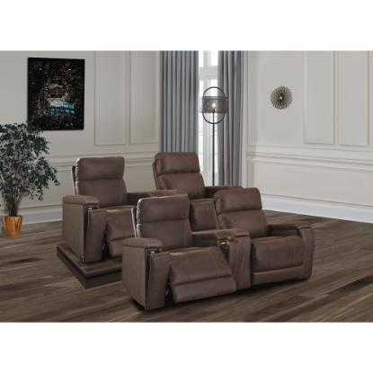 Picture of ASHLEY THEATER-CHAIR-4PC-PKG-WALNUT