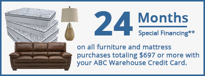 24 Months Special Financing on furniture and mattress purchases $697 and up